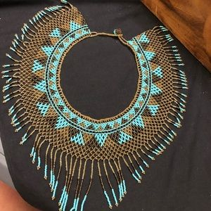 Handmade beaded collar necklace